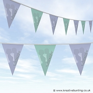 Wedding Day Bunting - Lilac and Mint